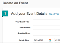 Customize your event