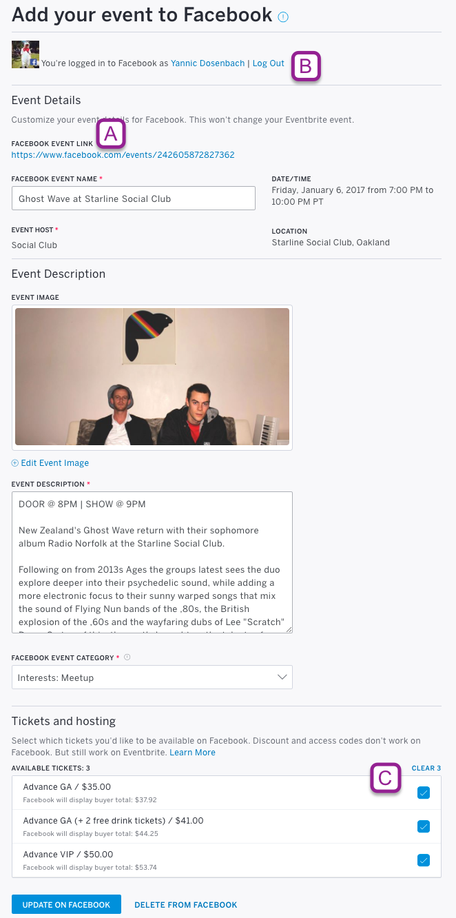 how to add your event to facebook and sell tickets click add to facebook to create your facebook event page using the details from your eventbrite
